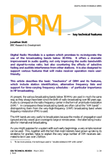 EBU Technology & Innovation - DRM — key technical features